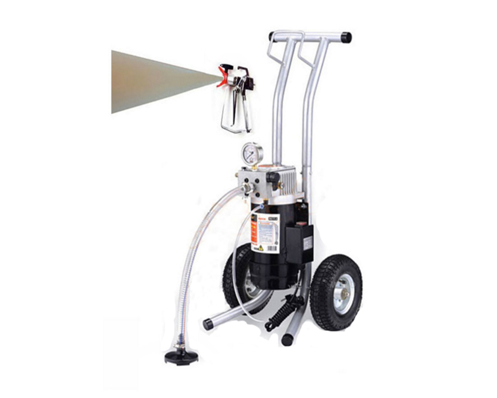 Professional airless paint sprayer with spray gun electric m819 a with 50cm extend pole 517 - Exterior paint sprayers set ...