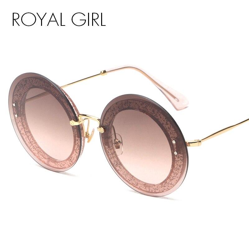 ROYAL GIRL Round Rimless Sunglasses s