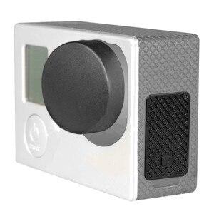 Image 2 - Capa lente 4 em 1 para gopro hero, cobertura de lente + tampa da lente + porta de substituição + capa de porta lateral 4/3 + câmera