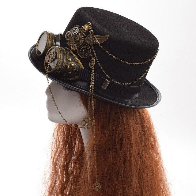 Шляпа в стиле стимпанк с очками в ассортименте вариант 4 1