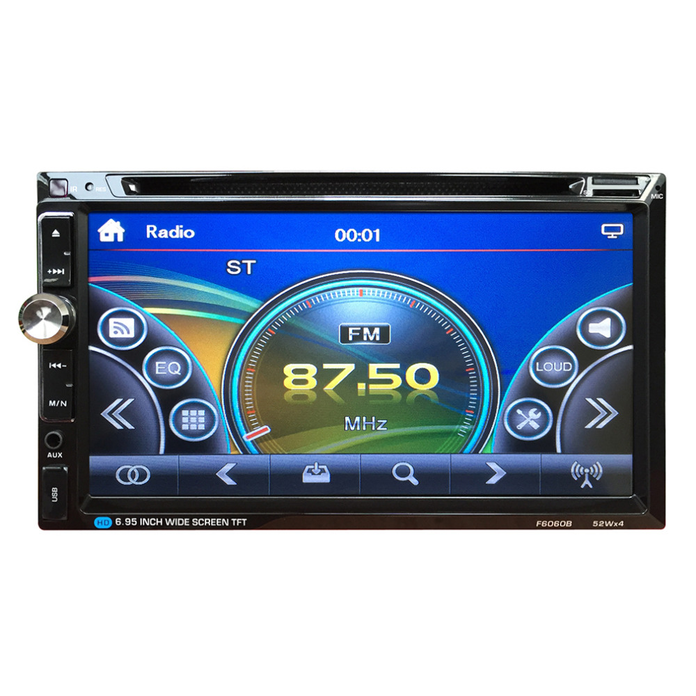 New 7 Inch TFT Car Vehicle  Large Touch Screen Display Dual Din DVD Player Multimedia Player Car Entertainment 12V Hot yatour car digital cd music changer usb mp3 aux adapter for opel vauxhall holden 2006 2010 antara astra h j corsa combo vectra