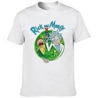 2017 Summer Fashion Rick Morty T Shirt Men Anime T Shirts Peace Among Worlds Folk Cartoon