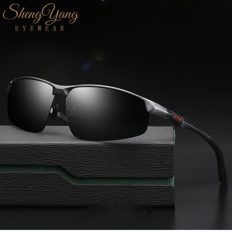 SHENGYANG Brand Aluminum Polarized Sunglasses Men Fashion New Sun Glasses Travel Driving Male Eyewear Oculos Gafas De So W3121