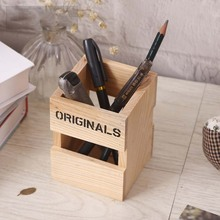 Compact Wooden Pen Holder