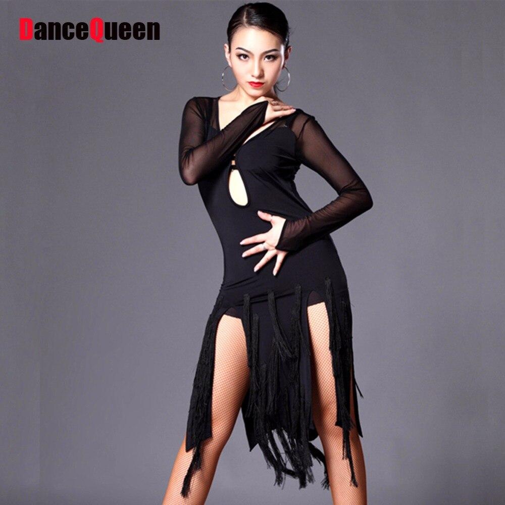 2018 Latin Dance Dress Women Cha Cha/Rumba/Samba/Tango/Ballroom Dance Skirt Sexy Plus Size Club Dresses Latin Dancing Costumes