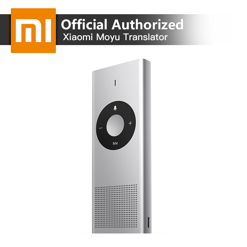 Xiaomi Traducteur Vocal Moyu AI Portable Mini Interprète 14 Langues Microsoft Traduction Support Moteur Russe Langue