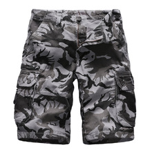 2019 New Camouflage Loose Cargo Shorts Men Cool Summer Military Camo Homme Casual