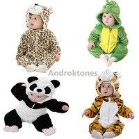 Androktones 2017Flannel Pajamas Kids Cosplay Cartoon Animal Baby Boys Girls Pyjamas Panda Unicorn Pajamas Kids Onesie