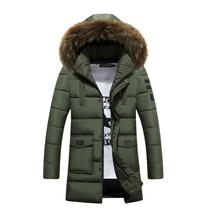 2016 New Winter Jacket Men White Duck Down Long Jackets Keep Warm Coat Casual Men's thick Down Overcoat Outdooring parka homme