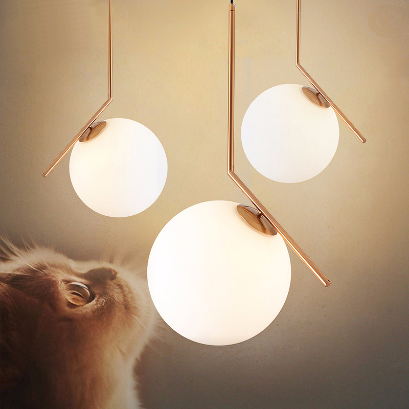 Factory Outlet Modern LED Glass pendant lights Fixtures for Dining Room Nordic Simplicity Creative Pendant Lamp Free Shipping
