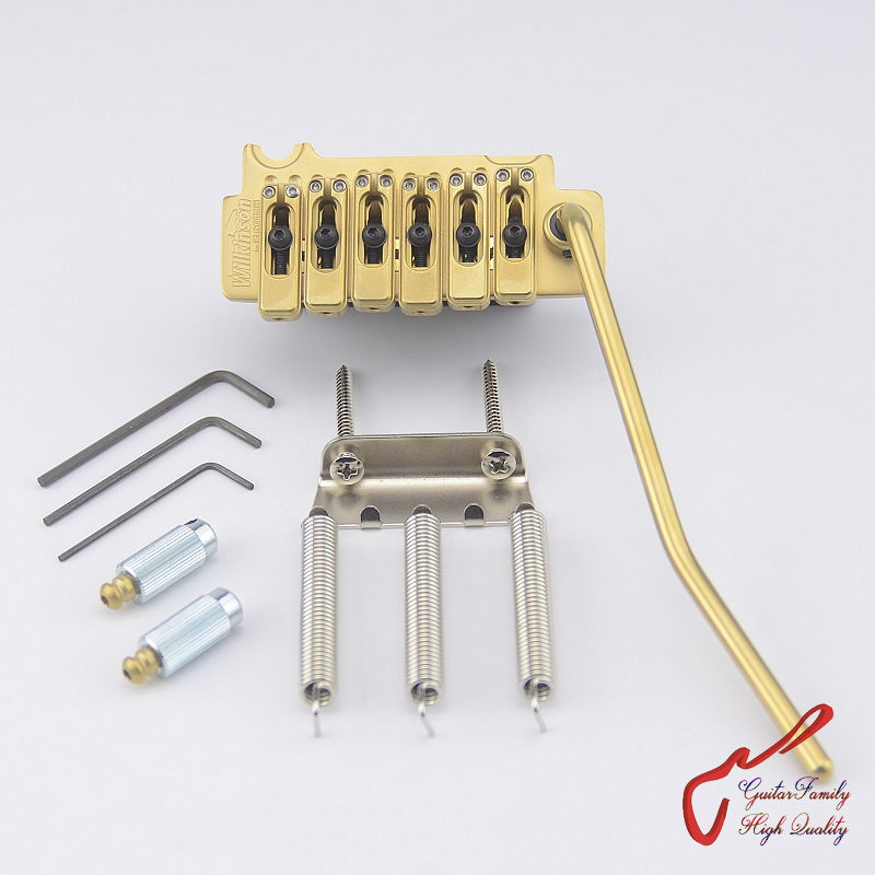 Genuine Original GOTOH Wilkinson VS100N VS-100N 2-Point Electric Guitar Tremolo System Bridge ( Honed Gold ) MADE IN JAPAN free shipping new single wave electric guitar wilkinson bridge wvcsb in gold 8351
