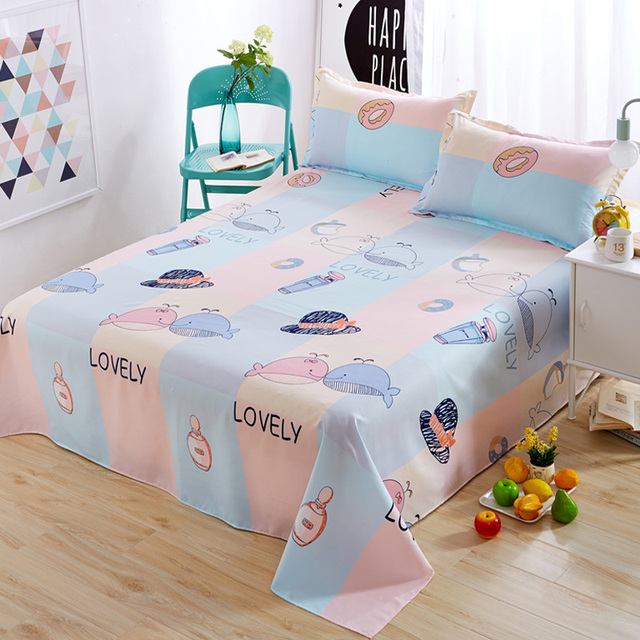 Nordic Cartoon Whale/hat/cloud/moon/flower Bed Sheets Home Decor Bedding
