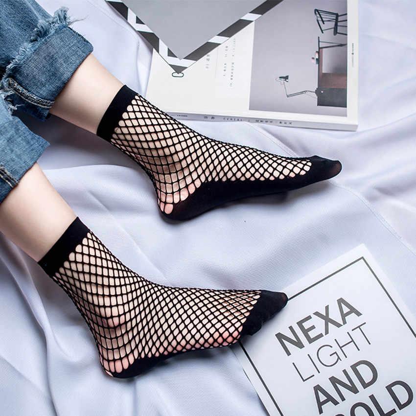 ... 2019 Модные женские с рюшами большие ажурные высокие носки женские  сексуальные полые кружевные ажурные Простые короткие ... 22c63061a2d