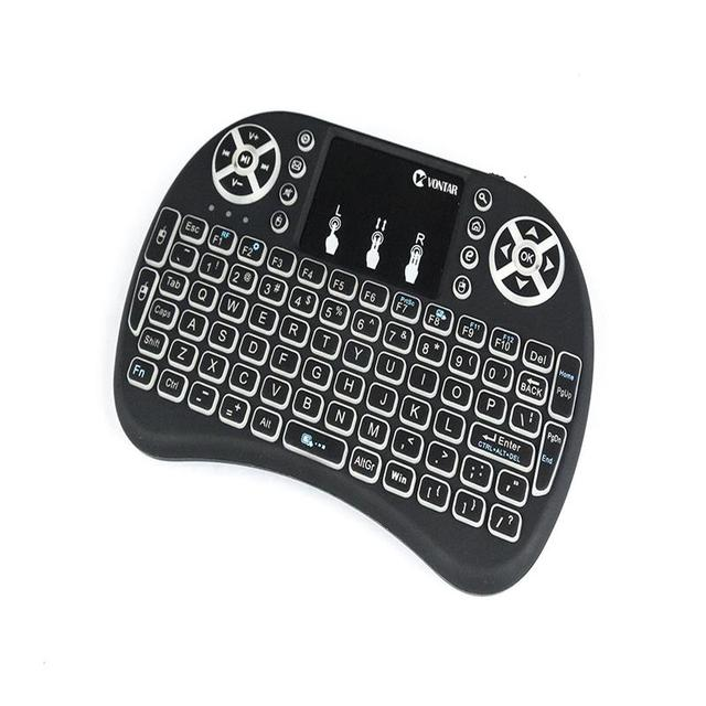 7 Color Backlight mini i8 2.4GHz Wireless Keyboard Russian Spanish English French Version Touchpad i8 Backlit For Android TV BOX