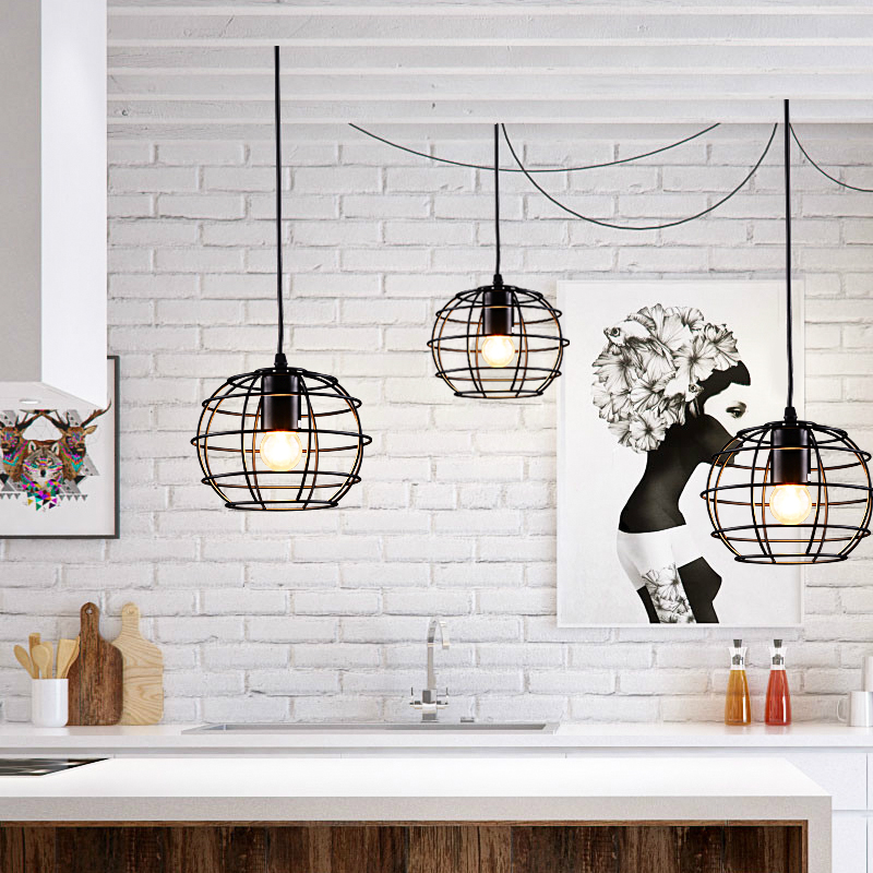 Nordic iron 1/3 heads lamps Pendant Lights creative bar retro cafe tea shop restaurant creative American lamps LU823405 ascelina american retro pendant lights industrial creative rustic style hanging lamps pendant lamp bar cafe restaurant iron e27