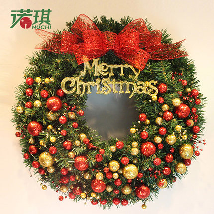 Us 99 7 80cm Christmas Wreaths Green With Red Gold Fruit And Bows Ornaments Christmas Decorations For Home Decoration Christmas Ornament In Pendant