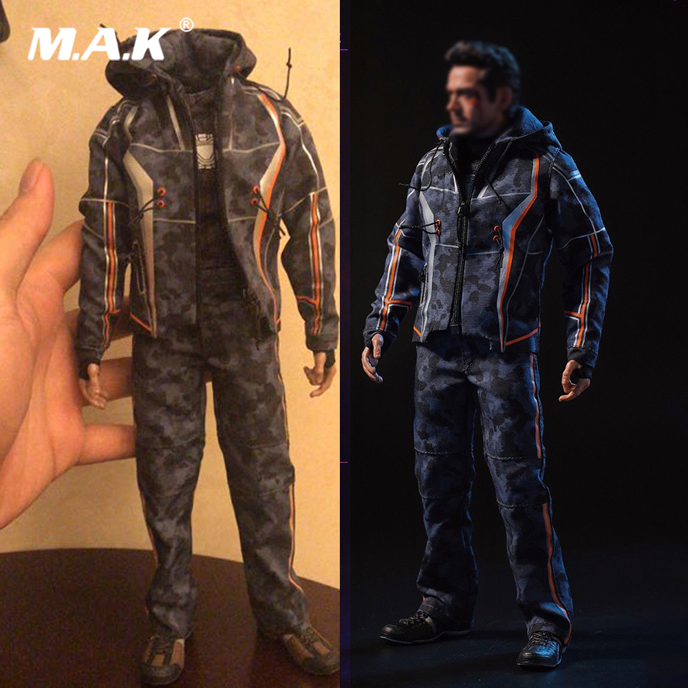 1/6 Scale Male Clothes Set DJ_Custom DJ-011 Iron Man Tony Nano Battle Casual Clothes Costume Cosplay for 12 inches Action Figure кухонный комбайн bomann km 392 cb серебристый