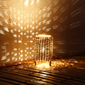 Персонализированные Бамбука ткачество настольная лампа LED романтическая ночь свет творческие сладкий сон лампы E14 Атмосферу энергосберегающие лампы