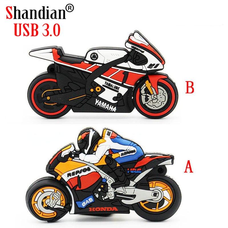SHANDIAN hot selling USB 3.0 External Storage Men's motorcycle pendrive 4GB 8GB 16GB 32GB Memory Stick U Disk