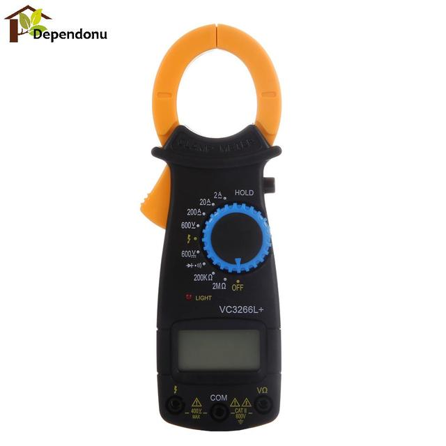 VC3266L+ Mini Digital Multimeter Voltmeter Ammeter OHM Diode Voltage Tester 200A Auto Range AC/DC Test Clamp Meter Tester