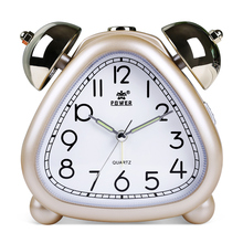 POWER Alarm Clock, Twin Bell Carton Quartz Music Alarm Clock for Kids, Desk  Alarm Clock with Night Light, Snooze , Non-Ticking