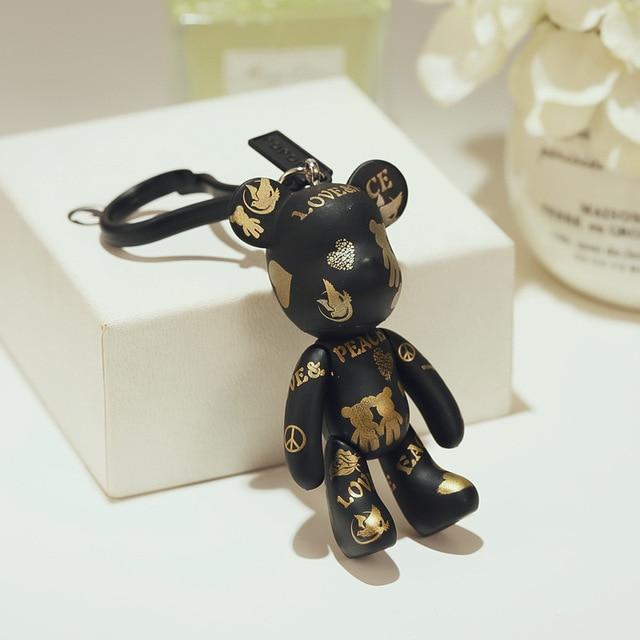 Bomgom Phim Hoạt Hình Popobe Gloomy Gấu Momo Gấu Vinyl plasitc Keychain Móc Chìa Khóa Túi Đồ Trang Trí Mặt Dây Chuyền Đồ Chơi Trẻ Em Búp Bê Keyring Fo-K049-b