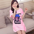 2016 NEW summer Nightdress For women Modal night dress lovely Animal Nightgowns