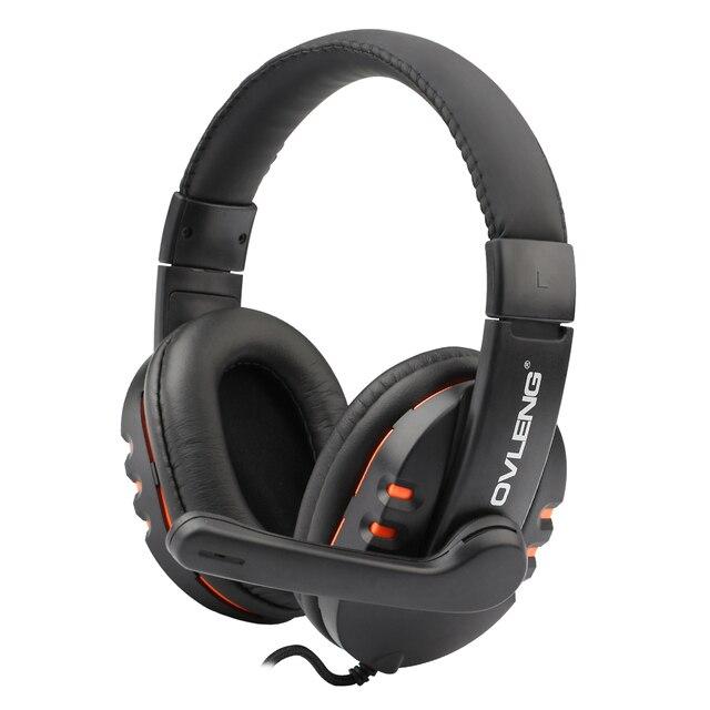 Ovleng stereo gaming headset fones de ouvido com fio do fone de ouvido 3.5mm com microfone controle de volume para telefone pc computador portátil ps4