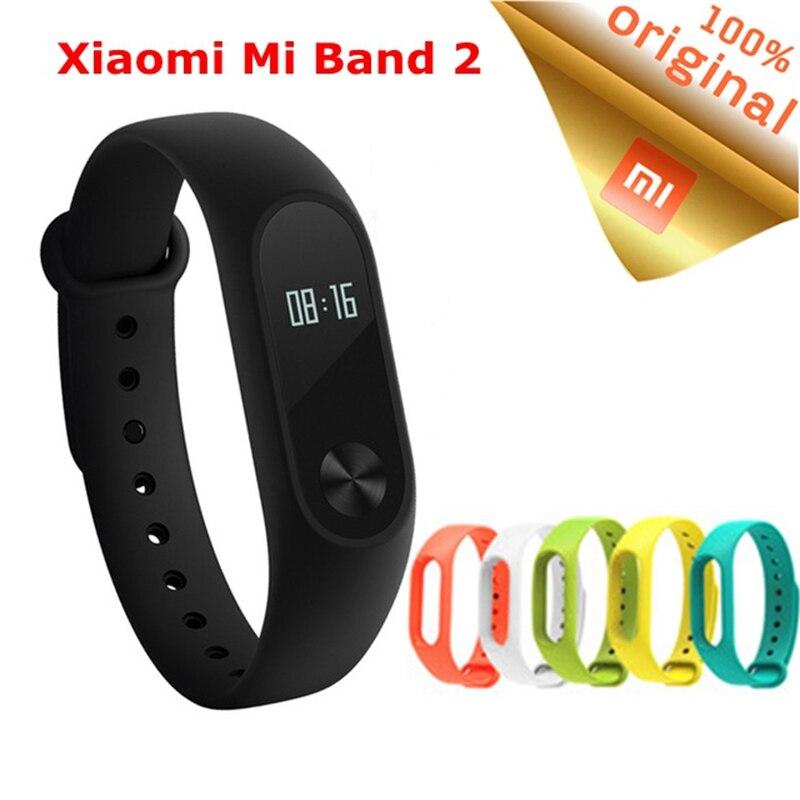 Original Xiaomi Mi Band 2 Smart Wristband Fitness Bracelet Xiaomi Miband 2 Heart rate monitor OLED Touchpad Standby Mi Band2 original xiaomi mi band 2 wristband