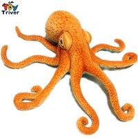 80cm Simulation Plush Squid Octopus Toy Creative Stuffed Lucky Fish Ocean Animal Doll Kids Birthday Gift