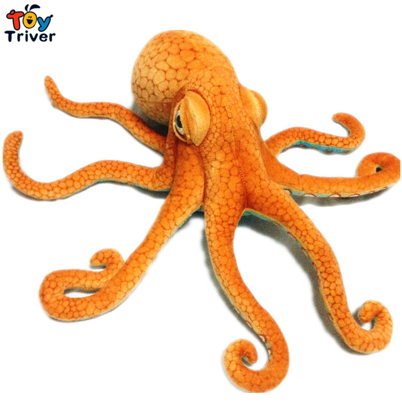 80cm Simulation Plush Squid Octopus Toy Creative Stuffed Lucky Fish Ocean Animal Doll Kids Birthday Gift Home Shop Decor Triver big lovely simulation cow plush toy creative stuffed cow doll birthday gift about 75cm