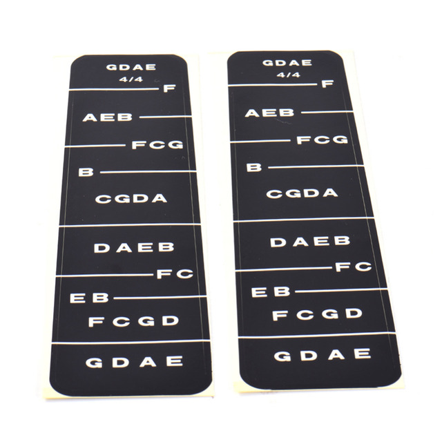 Violin Part Fiddle Fingerboard Fret Marker Label Fingering Chart