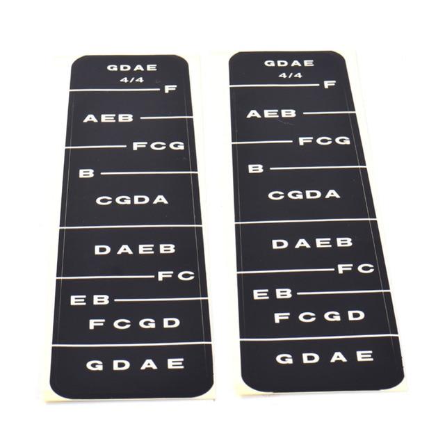 4\/4 Violin Part Fiddle Fingerboard Fret Marker Label Fingering - violin fingering chart