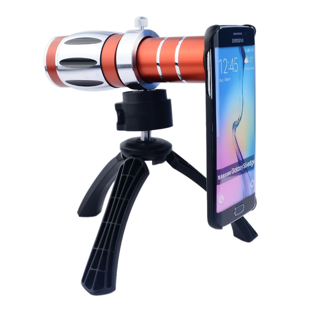 High end 3in1 20x Optical Zoom Telephoto Telescope Lens Kit For iPhone 4 4s 5 5s SE 6 6s 7 Plus Tripod Cases Phone Camera Lenses - 2