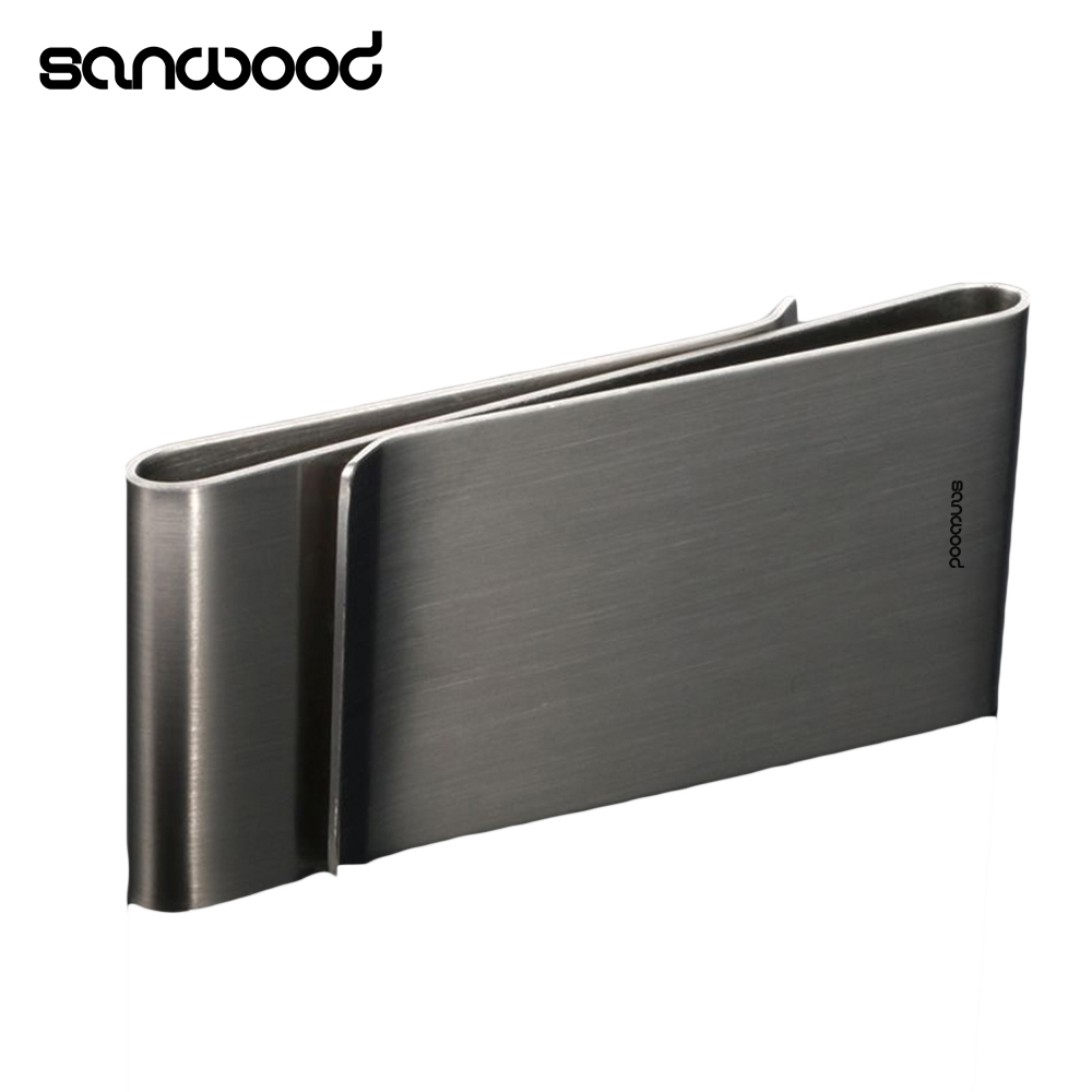 Stainless Steel Silver Color Slim Money Clip Purse Wallet Credit Card ID Holder 9XZ5