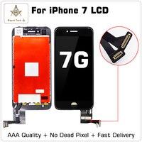 10 шт./лот отличное качество ЖК дисплей без битых пикселей для iPhone 7 г Дисплей сенсорный дигитайзер сборки хорошее 3D Бесплатная доставка DHL