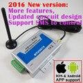 Envío gratis RTU5015 Upgrated RTU5024 Puerta GSM Puerta de Cochera Operador con Control Remoto de SMS de Alarma 1 Salida y Entradas de 2 App