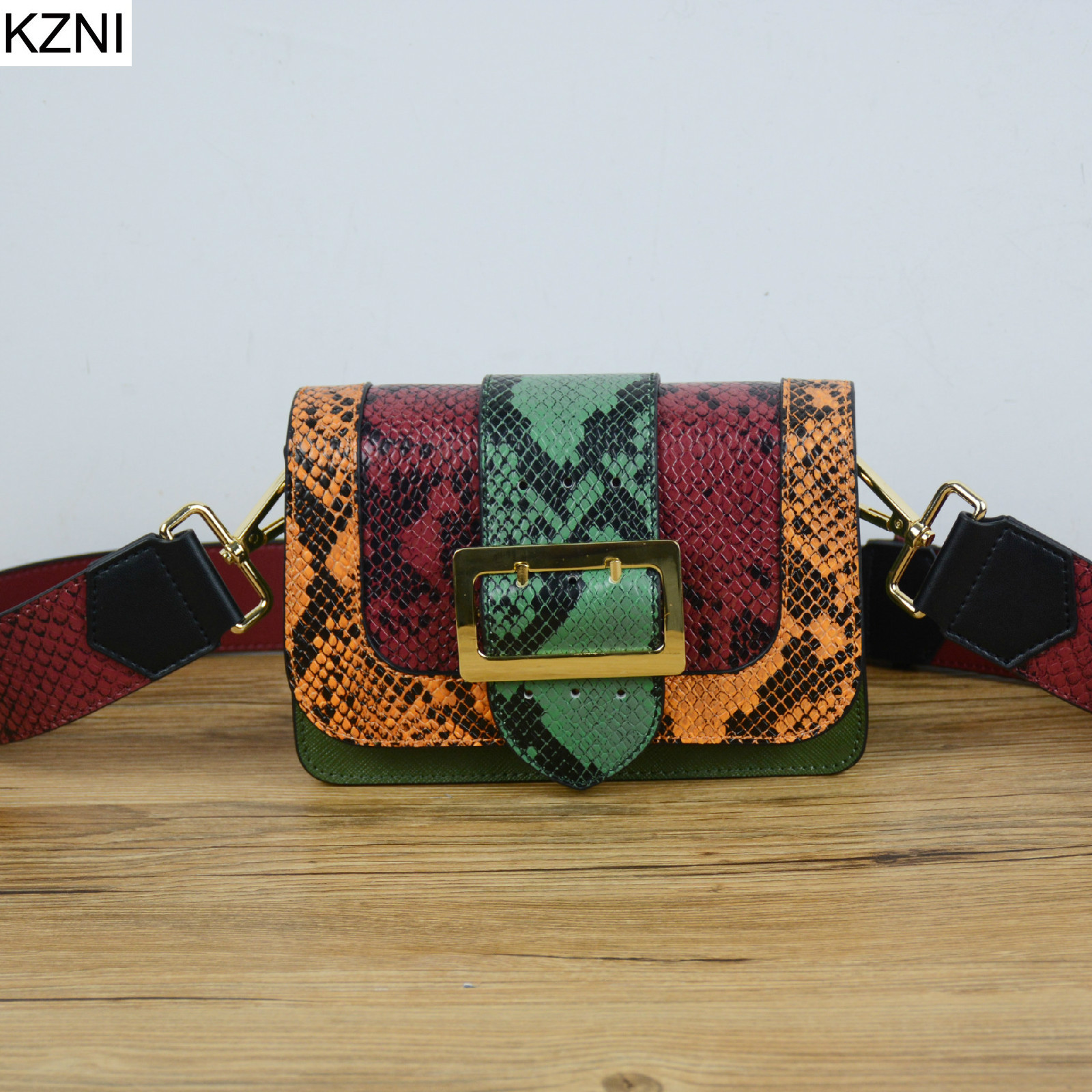 ФОТО KZNI genuine leather women bags designer handbags high quality vintage carteras mujer marcas famosas cuero genuino L031330