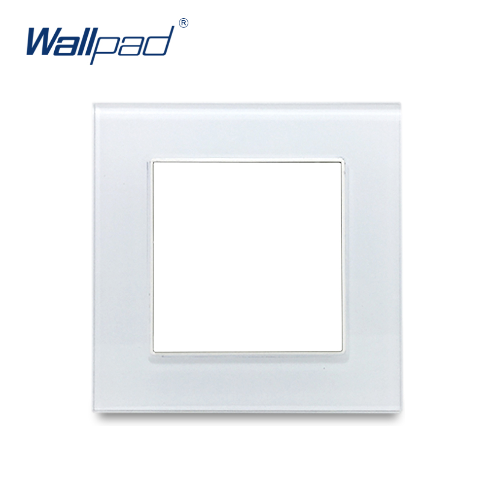 цена на Wallpad White Tempered Glass Panel Frame 86*86mm 146*86mm 172*86mm 258*86mm 344*86mm 430*86mm Frame Only