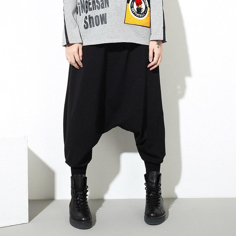 3029959a77fa Pantalon Femme Pantalones Mujer Hrajuku Harem Hip Hop Boho Black Wide Leg  Palazzo Baggy Elastic Waist Capri Pants Women Trousers