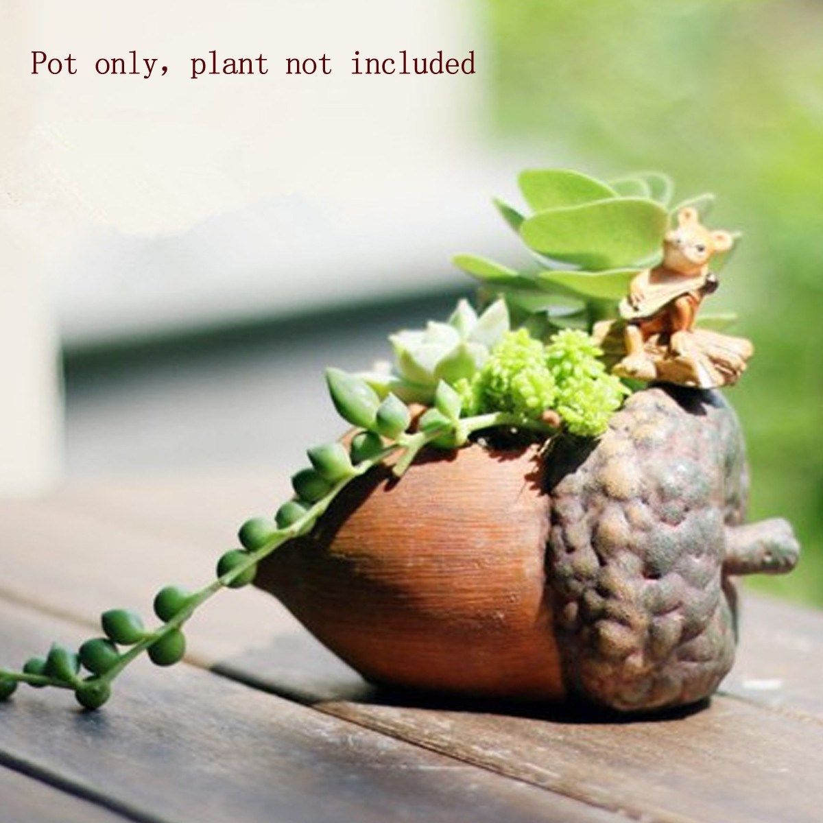 Delicate Resin Garden Succulent Plants Flowerpot Kawaii Planter ...