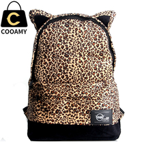 Fashion Women school backpacks canvas Leopard backpacks for teenage girls vintage school leisure bags travel backpacks