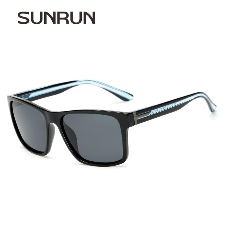 SUNRUN Lente Recubrimiento gafas de Sol Polarizadas de Los Hombres Classic  Vintage Oculos gafas Gafas de Sol Para Los Hombres Piernas Transparentes  Gafas ... 1e817419ba95