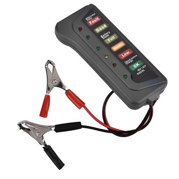 12V Car Motorcycle Battery Load Tester Analyzer Alternator Cranking Check Two Testing Clips image