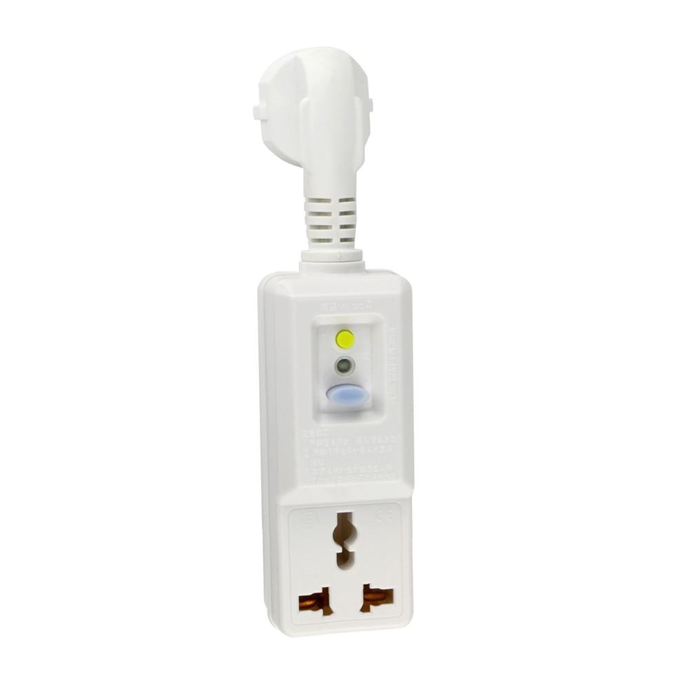 16A 220V 240V EU Plug GFCI Earth Leakage Protection Safety RCD Socket Eu Adaptor