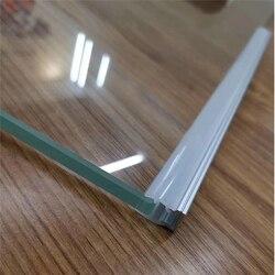 10-30 teile/los 80nch 8mm dicken glas nipping beleuchtung led aluminium profil, 10mm streifen linear kanal zu beleuchten glas