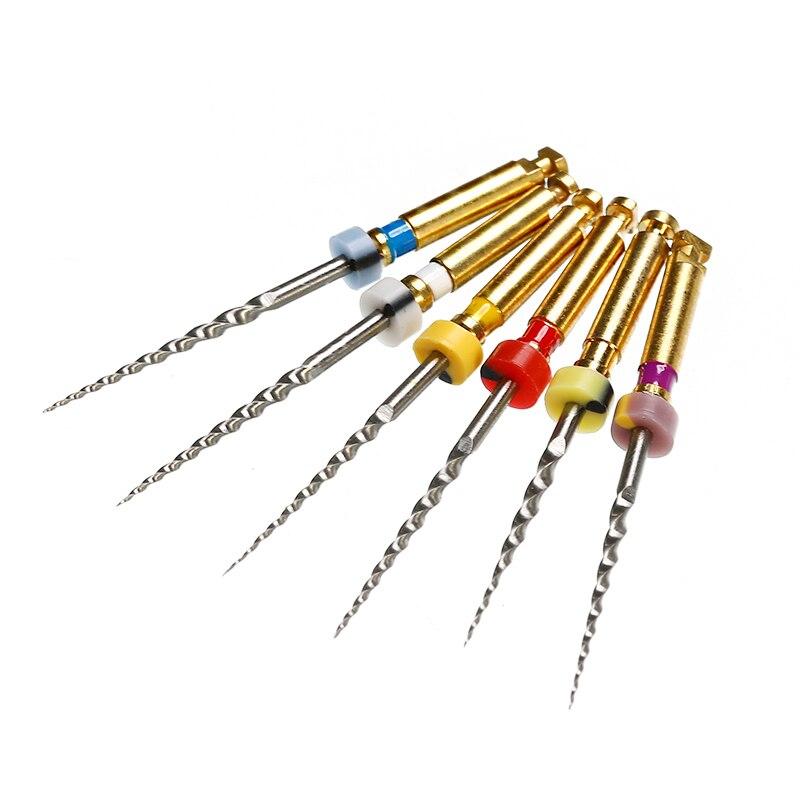 6 teile/schachtel Universal Dental Motor Verwendung NiTi Super Rotary Datei SX-F3 21mm Maschine Kegel Zahnarzt Werkzeug Zähne Bleaching Material werkzeug