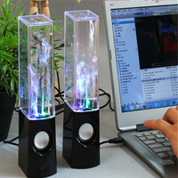 USB Water Music Speaker Led Fountain Water Spray Nightlight For Computer Pc Tablet Phone MP3 Audio