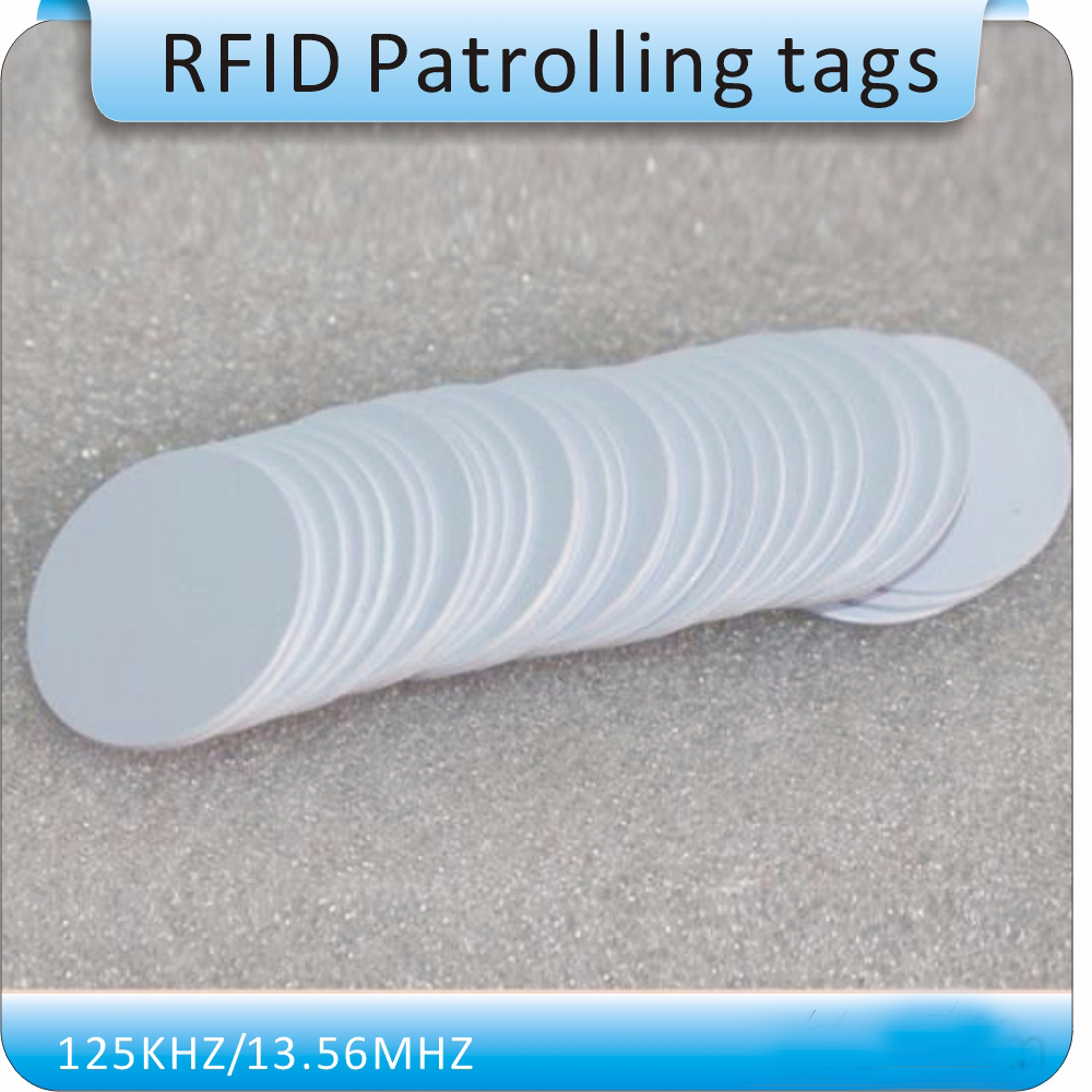 Free Shipping 100pcs Coin Style TK4100 Chip Smart Card Chip/125KHZ RFID Coil Tags /RFID Tags/ White 20mm