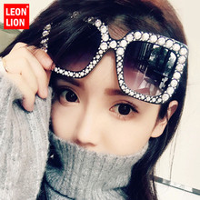 LEONLION New Anti-diamond Square Large Frame Sunglasses Women Vintage Outdoor Street Beat Sun Glasses Lunette De Soleil Femme